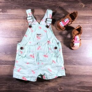 OshKosh B'gosh Pineapple & Palm Trees Shortalls